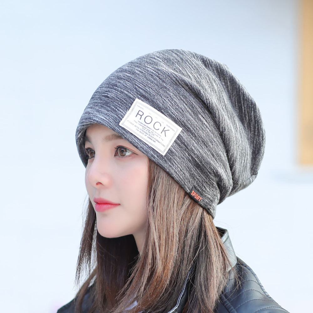 Autumn Thin Men Hat for Women Fashion Letter Head Cap Thick Warm Winter Hats Knitted Hip-hop   Beanie   Chapeu Feminino Caps