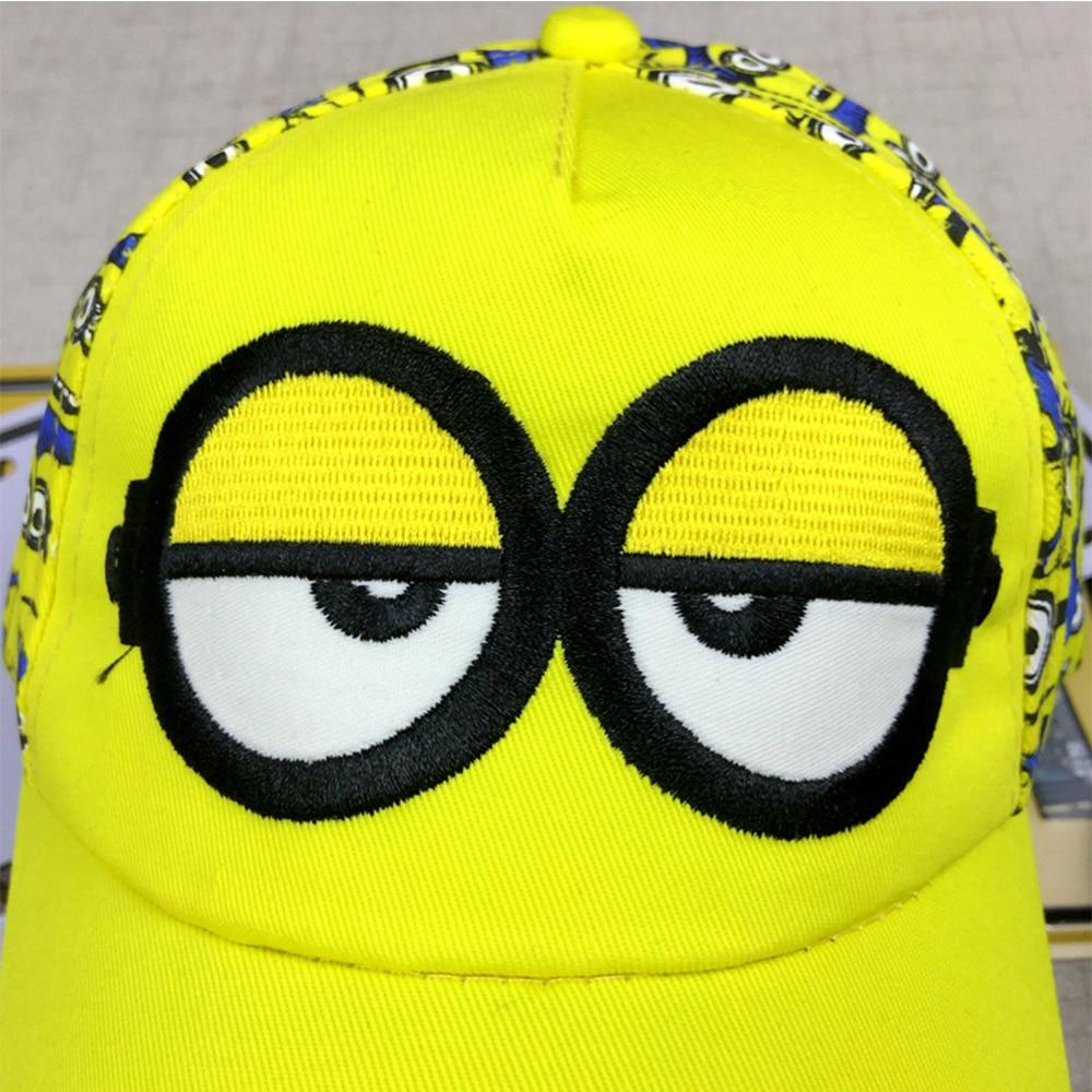 New Minions cartoon for Minions Adjustable Caps girl kids Baseball hat Cool  Boy Hip-hop cosplay accessary 36c4597b385b