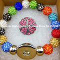 Free shipping !new Sham ball Bracelet  snap button jewelry Mix Color Sham ball Bracelets & Bangles