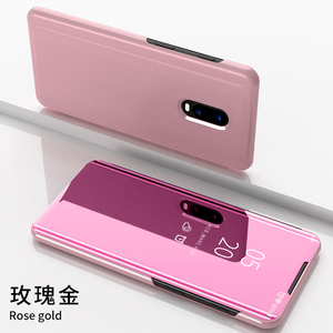 Image 5 - Oneplus 7 pro case Smart Mirror Flip case for One plus 6t 7 Protective Cover on One Plus 7 clear view stand case for One Plus 6t