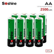 8Pcs AA Battery Rechargeable Batteries 1.2V LR6 15A E91 2500mAh Ni-MH Pre-charged 2A Baterias for Camera
