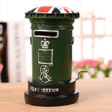 Living Room Decor Little Post Box Piggy Bank High Quality Pastorale Mailbox Resin Craft Money Box Lovely Music Box For Gift