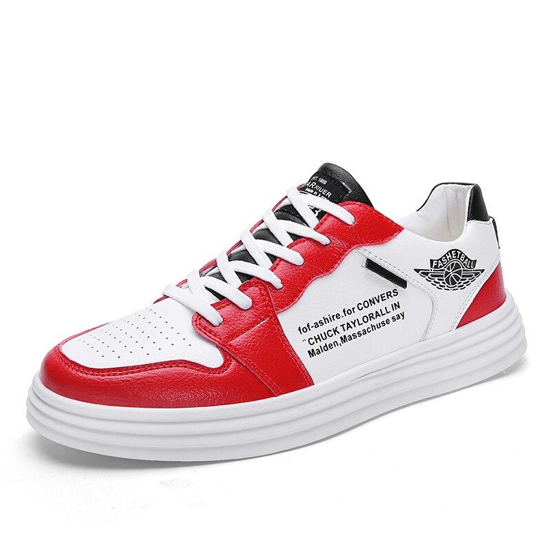 Haute qualité hommes chaussures vulcanisées nouveauté mode hommes chaussures loisirs appartements chaussures à la mode PU respirant baskets