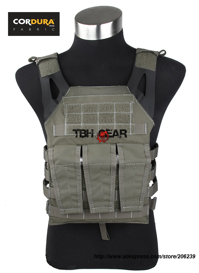 TMC Jump Plate Carrier 500D Cordura FG Airsoft Military Tactical Vest+Free shipping(SKU12050281) tmc vest 94k m4 pouch plate carrier tactical military vest matte coyote brown free shipping sku12050549