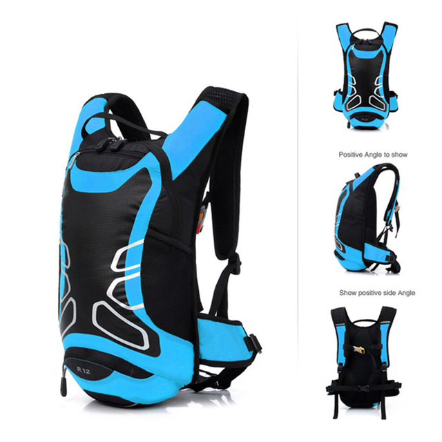 HOT !!! 12L Waterproof Bicycle Shoulder Backpack Riding Travel Mountaineering Hydration Water Bag