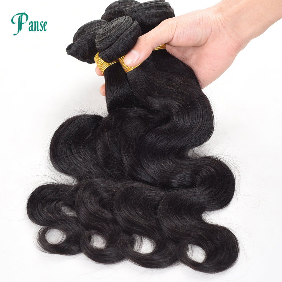 Panse Hair Peruvian 100% Human Hair Weaving Body Wave Human Hair Products Customized 8-30 Inches 4pcs Per Lot Non Remy Hair