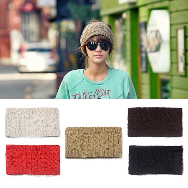 aad5de939cd M MISM Fashion Winter Ear Warmer Stretch Twist Headband Turban Women  Crochet Knitted Head Wrap Knitting Woolen Hair Bands