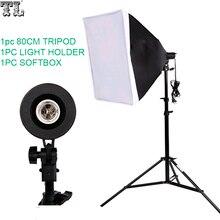 Бесплатная доставка номер отслеживания Фотография Softbox Освещение комплект 50×70 см Софтбоксы 80 см лампы стоят Аксессуары для фотостудий Аксессуары комплект