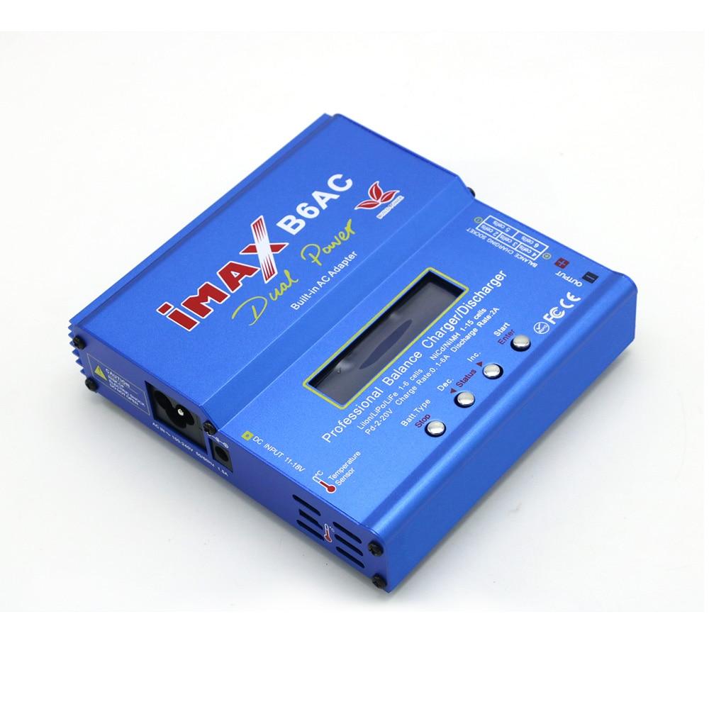 Сборка мощности iMax B6AC 80 Вт Цифровой Lipro аккумулятор баланс зарядное устройство для RC модель Nimh батарея балансировка зарядное устройство