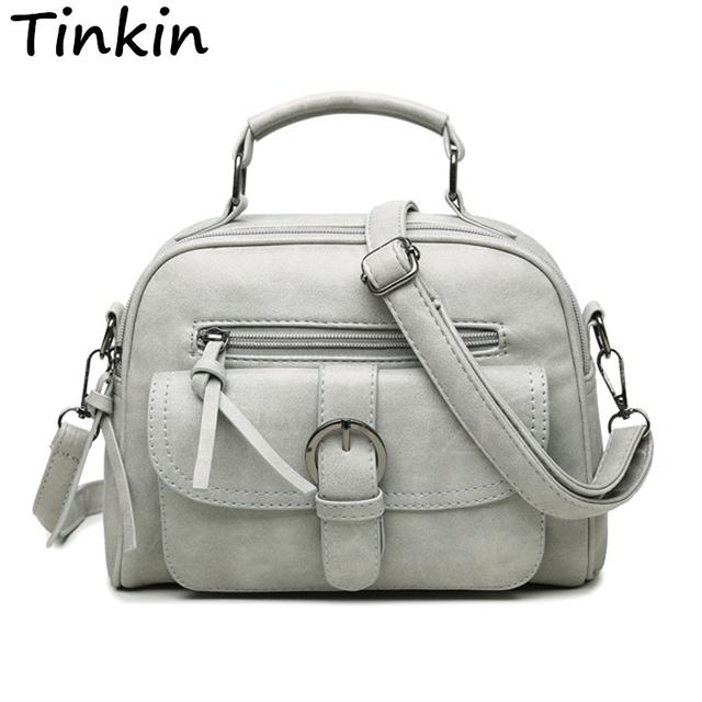Tinkin New Arrival Women Bag Fashion Shoulder Bag Casual Simple Totes Fresh Cherry Messenger Bag Matte Leather Bag