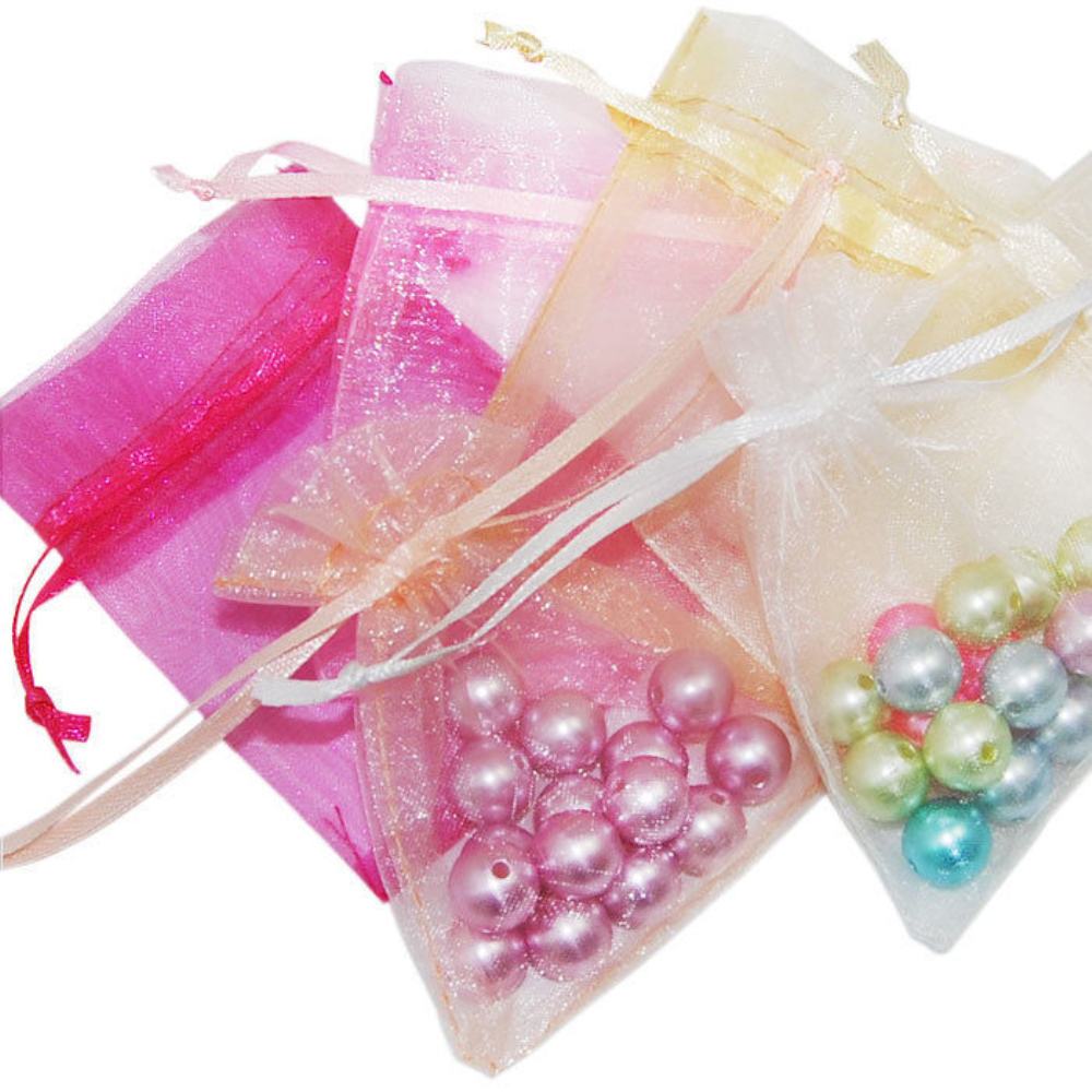 100pcs 7*9cm Luxury Organza Wedding Favour Chrisamas Gift Bags ...