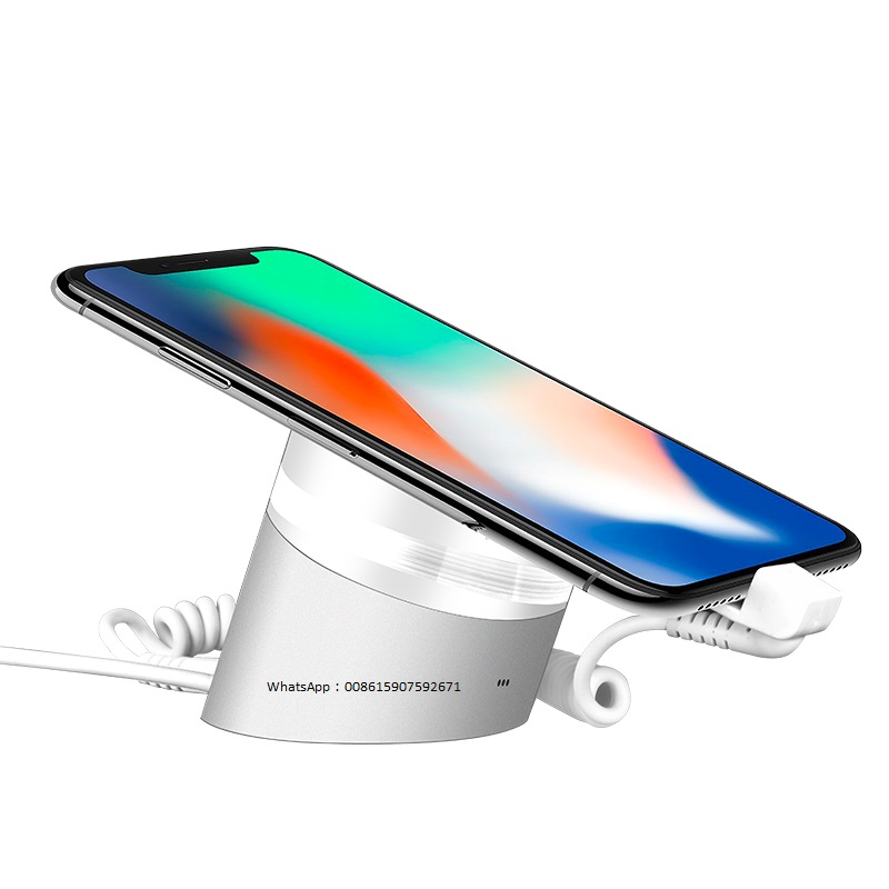 Apple_iphone_experience_store_pedestal_Huawei_security_alarm_display_acrylic_stand