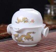 Chinesische Traditionelle Gaiwan Tee satz Umfassen 1 Topf 1 Tasse, hohe qualität elegante Kung Fu teetasse, Schön und einfach teekanne wasserkocher
