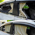 Hipersônico 2 PCS 70 cm Malha L Auto Rear Valance UV Sombrinha Viseira Cortina Cortina Da Janela de Carro