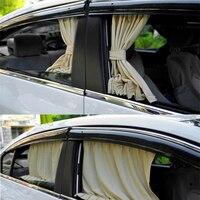 Hypersonic 2PCS 70cm Mesh L Auto Rear Valance UV Sunshade Drape Visor Car Window Curtain