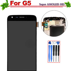 100% Tested for LG G5 H850 H840 H860 Display with Frame Touch Screen Digitizer Assembly for LG G5 LCD Display Replacement Black