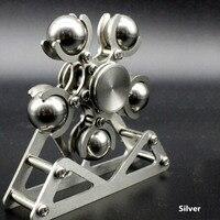 1PC 5 Steel Ball Ferris Wheel Stainless Steel Fingertip Spiral Spinning Top Adults EDC Fidget Spinner