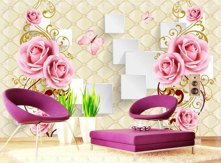Beautiful Flowers Design Of Large Modern New Special Decorate Household Wallpaper Wall Paintings Cold Water In Wallpapers From Home Improvement On