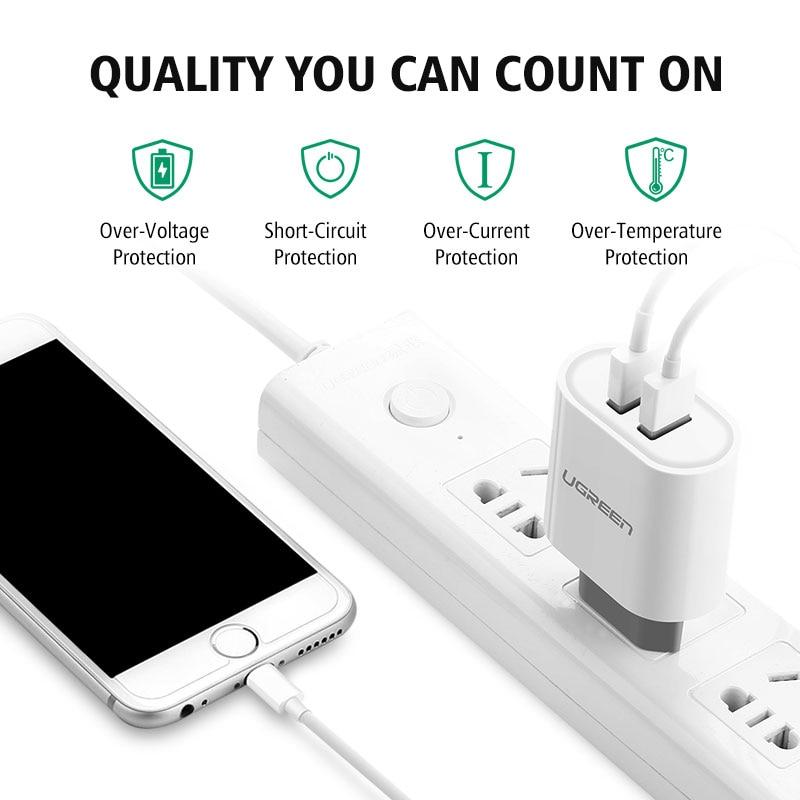 mobile travel ugreen usb charger 5v34a universal portable travel wall charger