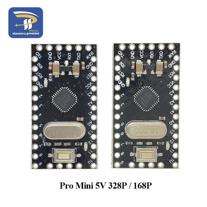 Pro Mini 168/328 Atmega168 5V 16M / ATMEGA328P-MU 328P Mini ATMEGA328 5V/16MHz For Arduino Compatible Nano Module