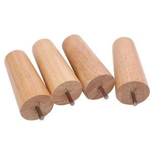 """Image 4 - 4.7 """"meubles en bois massif canapé jambes ensemble M8 boulon chêne conique remplacement canapé banc chaise Table basse armoire jambe ensemble de 4"""
