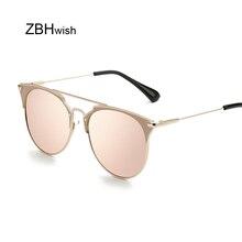 Vintage Ladies Cat Eye Sunglasses Women Brand Designer Sun Glasses For Women Retro Mirror Luxury Sunglasses Men Color Lens UV400
