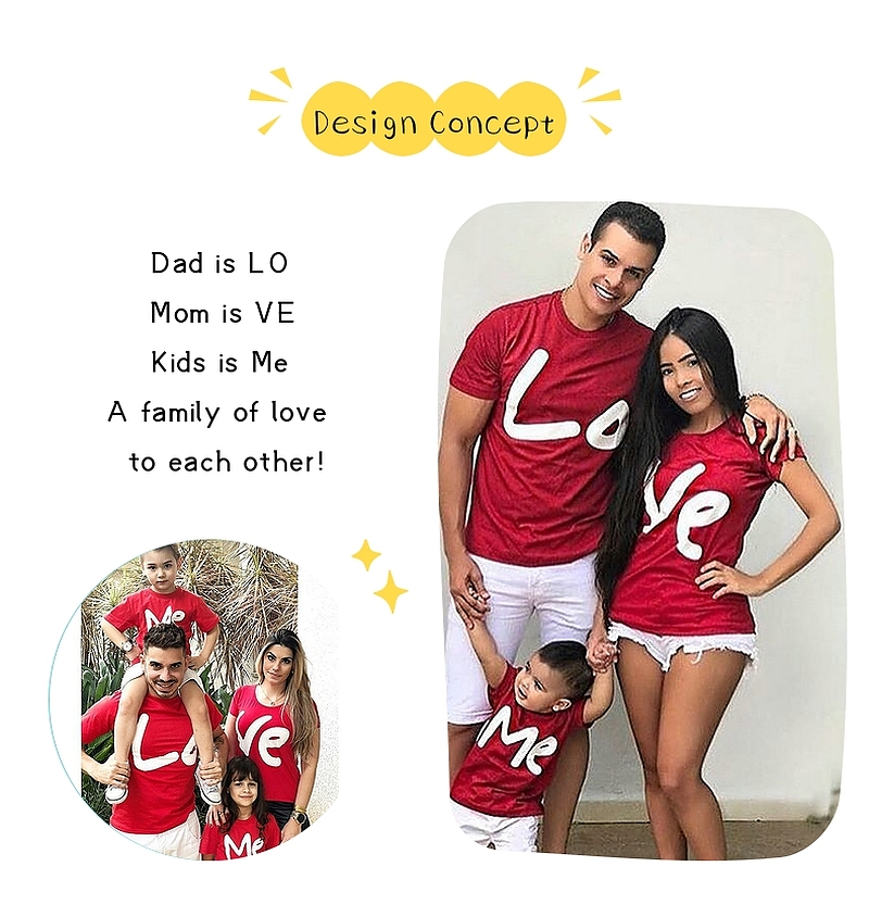 Matching Outfits For Family Couple T-shirts For Valentine Day Matching Family Valentine Outfits
