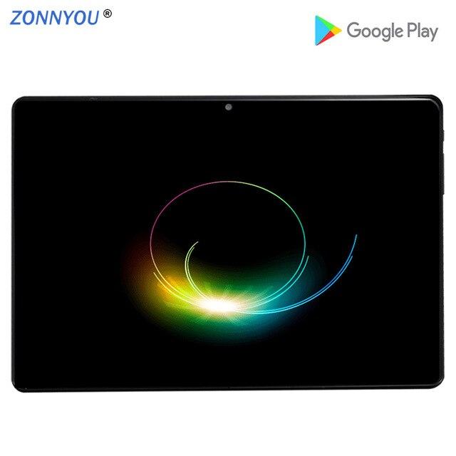 10,1 дюймовый ПК планшет Android 9,0 3g телефонный звонок Восьмиядерный 4 ГБ/32 Гб Две sim карты Wi Fi ips 2.5D закаленное стекло + клавиатура