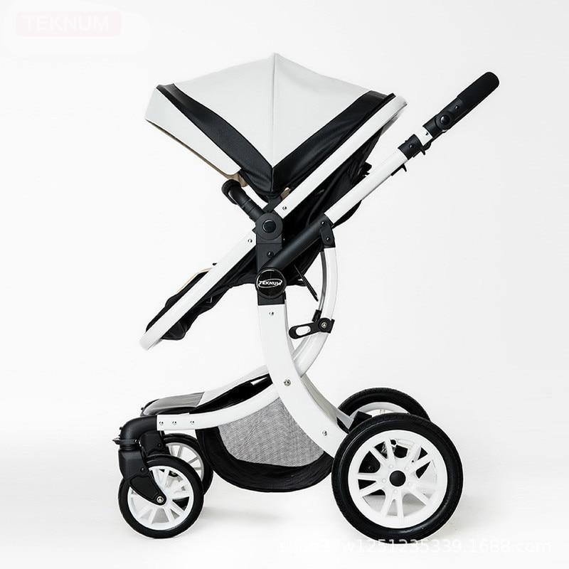 купить Baby strollers ultra-lightweight folding can sit can lie high landscape umbrella aluminum alloy baby trolley summer and winter по цене 25429.71 рублей