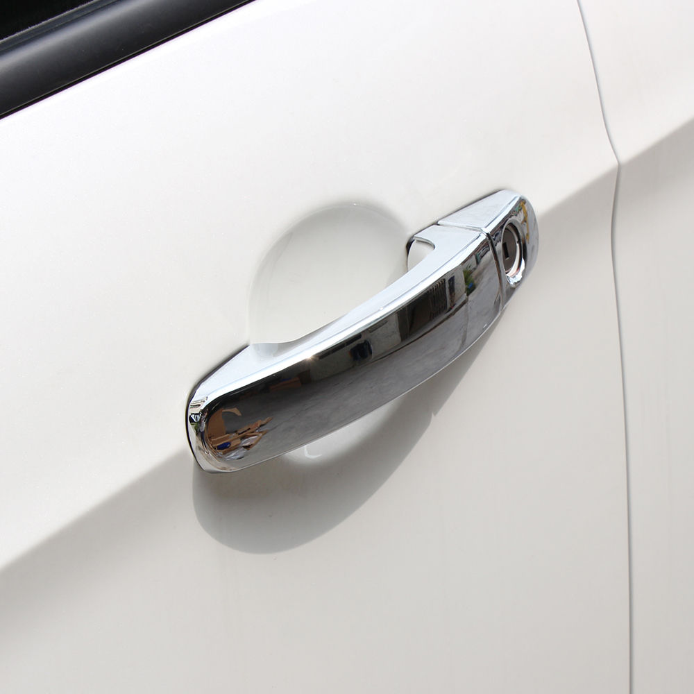 Abs chrome trim door handle bowl covers for ford focus 2 focus 3 2005 2006 2007 2008 2009 2010 2011 2012 2015 auto accessories