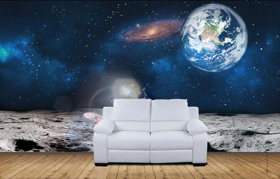 3d Wallpaper Non Woven Mural Custom Photo Mars Space To