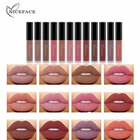 Niceface Fashionable 12 Color Lip Gloss Combination Waterproof Long Lasting Matte Liquid Lip Stick Cosmetic Beauty