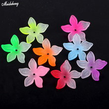 Flower Hairpin Hair Decoration Material Jewelry Diy Beads Limelight Hairpin Frosted Double-Color Hairline Accessory цена