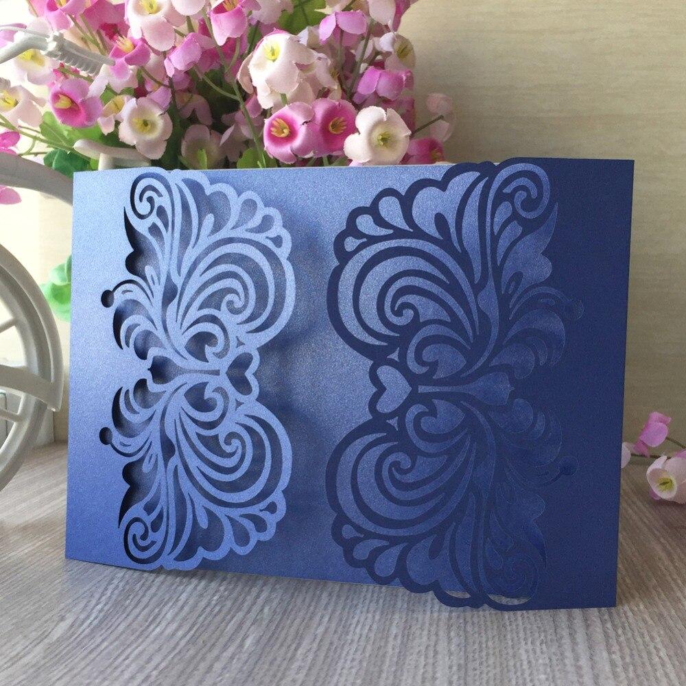 Deskundig 100 Stks/partij Parel Papier Uitnodigingskaart Verjaardagsfeestje Kaart Trouwkaarten Elegante Banket Levert Gift Redelijke Prijs