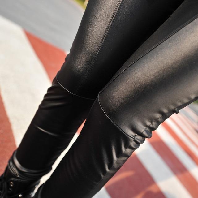 2019 women sexy Black coffee Modal leggings leggin plus size girl pants Patent leggings free shipping 2