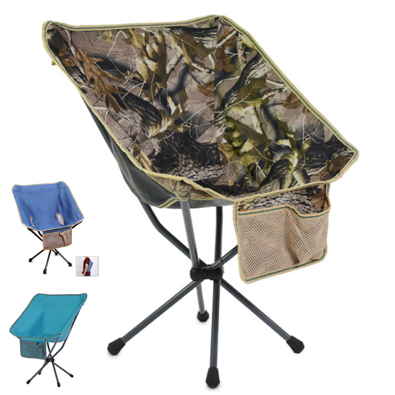 Outdoor portable folding chair backpack mini backrest fishing moon chair director sketching lazy beach camping chair