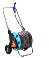 KD packing Hose trolly with 20m PVC garden hose 1/2'' with water nozzle multifunction watering gun
