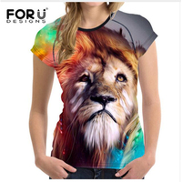FORUDESIGNS Kawaii Dog T Shirt Women Plus Size Funny 3d Ladies Short T Shirt Womens Tops