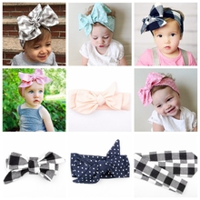 Yundfly Kids Floral Head Wraps Girls Dots Top Knot Headbands Children Hair Accessories Paisley Turban Headwear