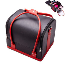 New PU Leather Cosmetic Box Women Professional Multilayer Beauty Tattoos