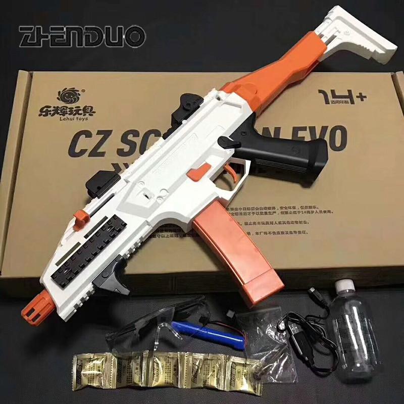 Zhenduo игрушка LeHui Хао Тип EVO3 Электрический водяной пистолет взрыв гель мяч бластер реального CS открытый хобби