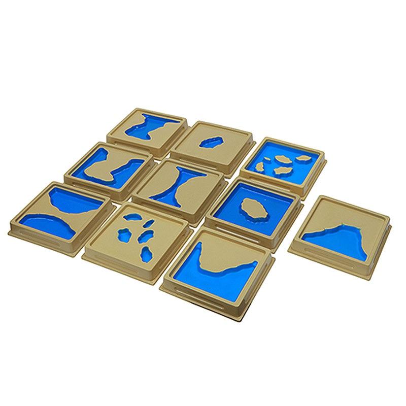 Montessori Matériaux Sensoriels Océan et Terre Puzzle Éducatif Bébé Jouets D'apprentissage Pour Les Enfants Juguetes Brinquedos MI2844H