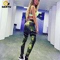 GERTU 2017 Мода Камуфляж Спортивные Брюки Сексуальные женские брюки фитнес bodycon Леггинсы