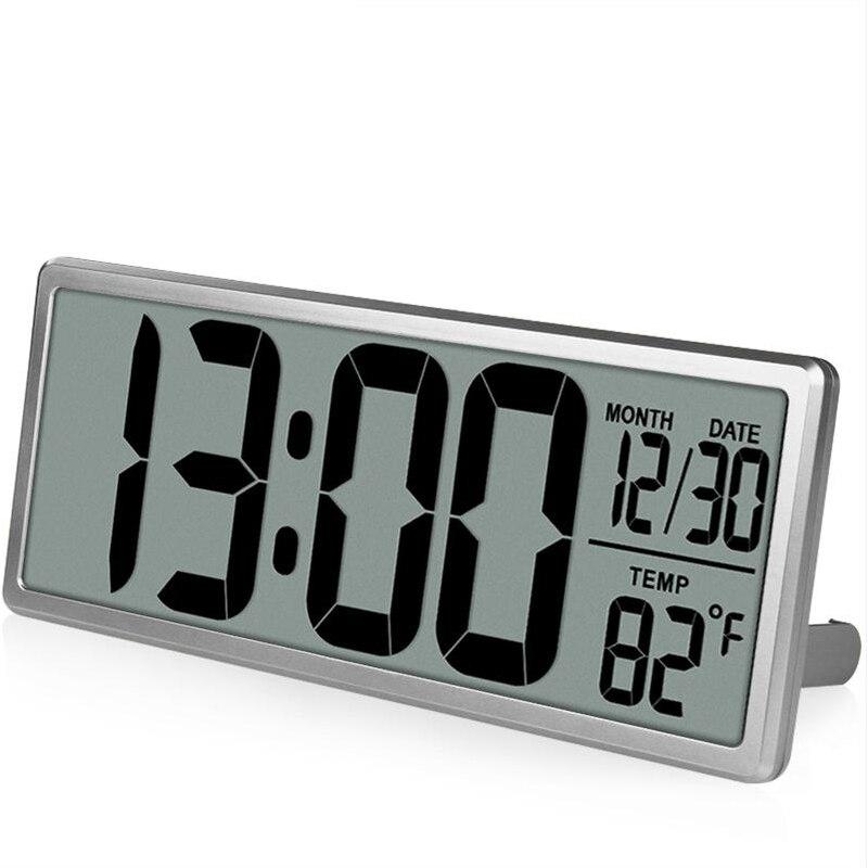 Relógio de Parede Digital de Visão Decoração do Escritório Txl Despertador Jumbo Extra Grande 13.8 Display Lcd Alarme Calendário Temperatura Interior