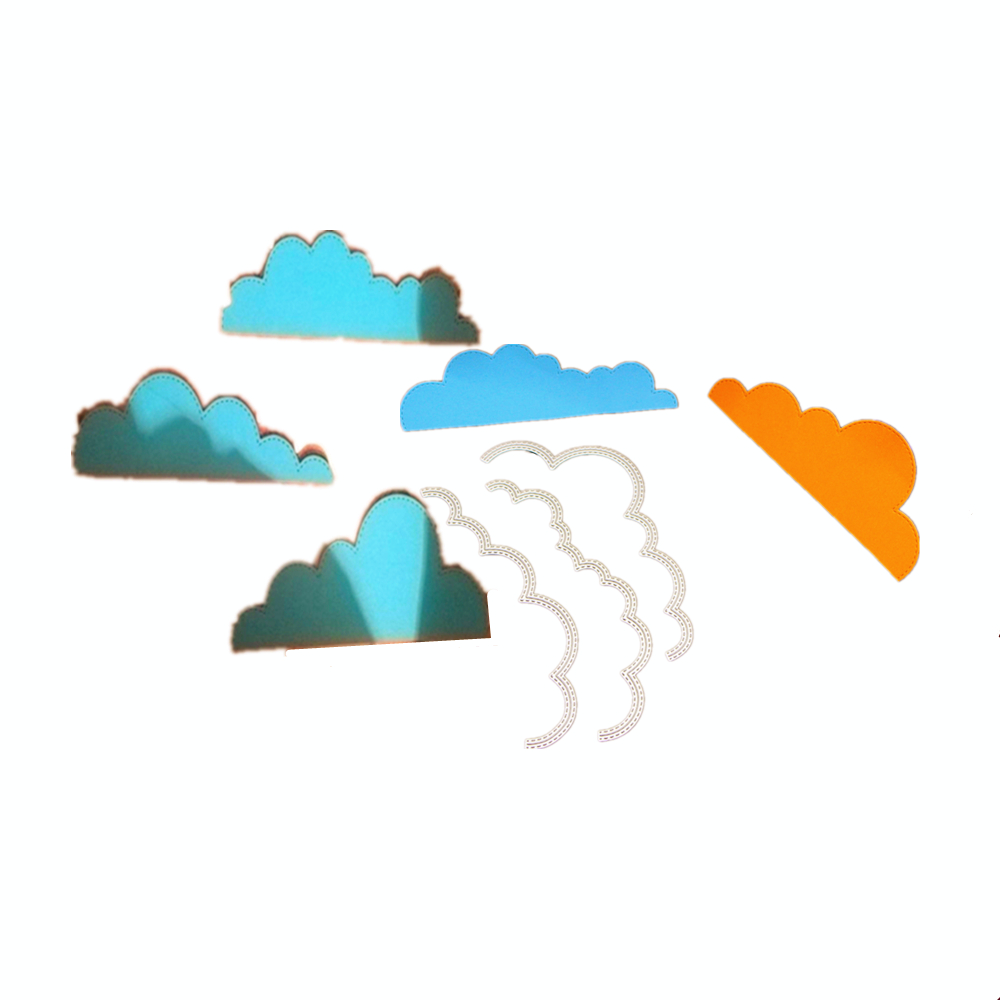 New Craft Dies Clouds Greeting Cards Scrapbook Die 810 3D Stamp DIY Scrapbooking Card Making Photo Decoration Supplies
