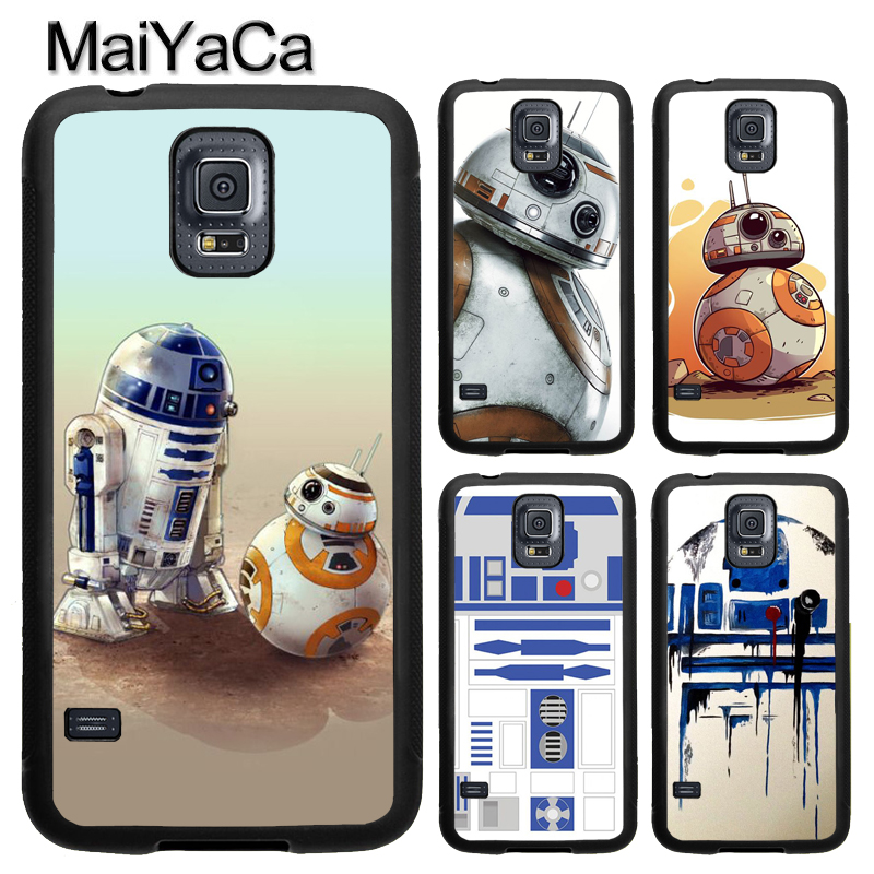 MaiYaCa R2D2 Star Wars Phone Case For Samsung Galaxy S9 S8 Plus S4 S5 S6 S7 edge Note 8 5 4 TPU Back Cover Skin Shell