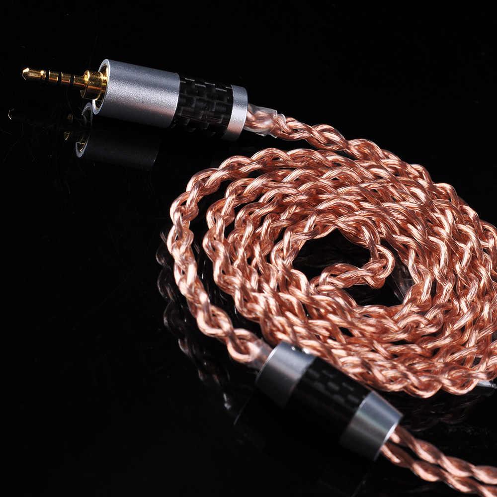 OFHC 24 AWG 6N 고순도 구리 케이블 2.5/3.5/4.4mm MMCX/2PIN/QDC BLON BL-03 BL-05 BL05 ZSNPRO ZSX BA5
