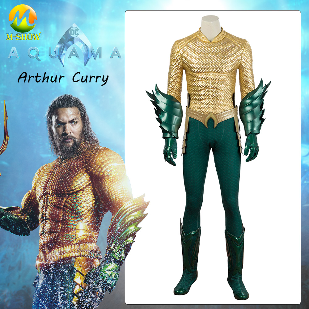 Costume de Cosplay Aquaman Arthur Costume de Cosplay masculin adulte ensemble complet de costumes d'halloween pour hommes sur mesure