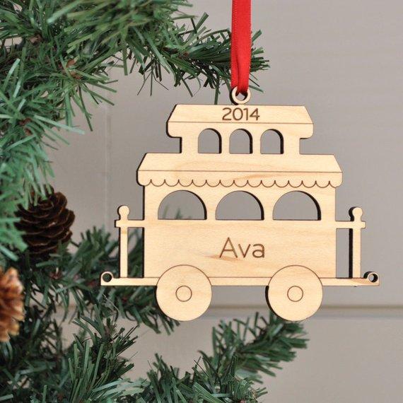 Custom wooden Train Car Christmas Tag,Christmas decor,personalized ...