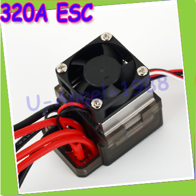 2pcs/lot 7.2V-16V 320A High Voltage ESC Brushed Speed Controller RC Car Truck Buggy Boat Newest Dropship